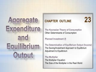 CHAPTER  OUTLINE 23  The Keynesian Theory of Consumption  Other Determinants of Consumption