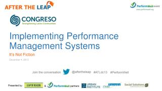 Implementing Performance Management Systems