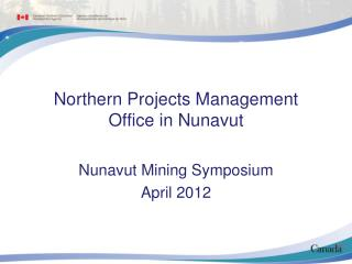 Northern Projects Management Office in Nunavut