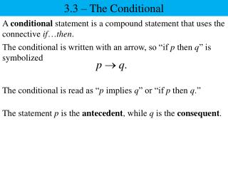 3.3 – The Conditional