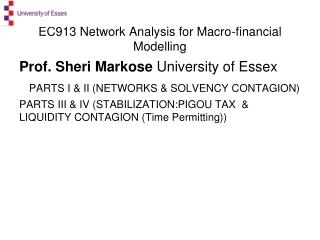 EC913 Network Analysis for Macro-financial Modelling