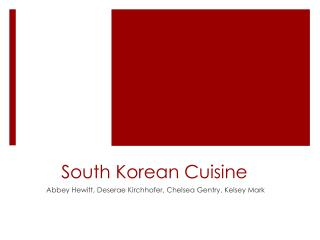 South Korean Cuisine