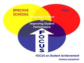 FOCUS on Student Achievement PATRICIA DAVENPORT