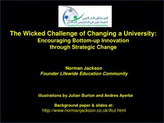 Norman Jackson Founder  Lifewide  Education Community