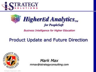 Higher E d Analytics TM
