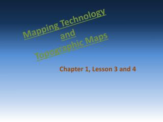 Mapping Technology and Topographic Maps