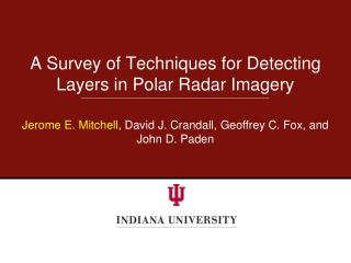 A Survey of Techniques for Detecting Layers in Polar Radar Imagery