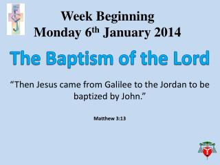 Week Beginning  Monday  6 th  January 2014