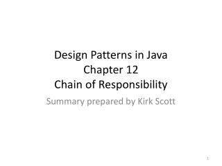 Design Patterns in Java Chapter 12 Chain of Responsibility
