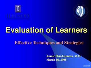 Evaluation of Learners