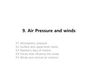9. Air Pressure and winds