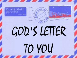 God's letter to you