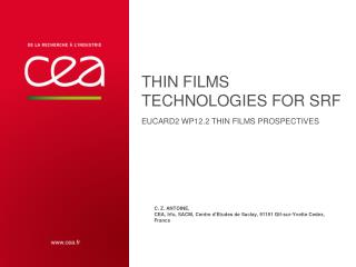 Thin films technologies for SRF EUcard2  WP12.2 Thin  films  prospectives