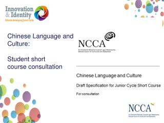 Chinese Language and  Culture: Student short course consultation
