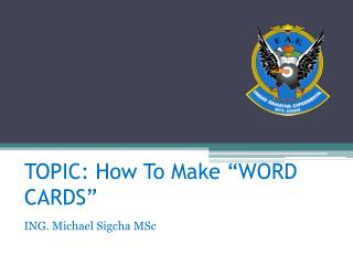 How to make a Word Card