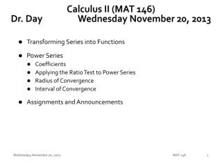 Calculus II (MAT 146) Dr. Day		 Wednes day  November 20,  2013