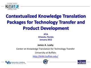 Contextualized Knowledge Translation Packages for Technology Transfer and Product Development
