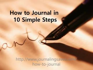 How to Journal in  10 Simple Steps