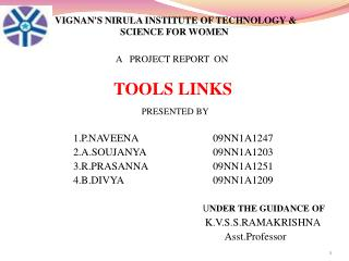 VIGNAN'S NIRULA INSTITUTE OF TECHNOLOGY  & SCIENCE FOR WOMEN