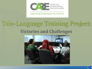 Tele-Language Training Project: