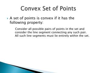 Convex Set of Points