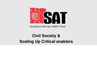 Civil Society &  Scaling Up Critical enablers