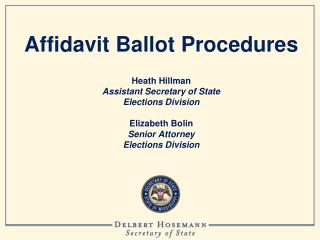 Affidavit Ballot Procedures