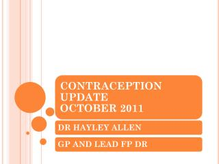 To be able to offer women an effective choice consultation for contraception