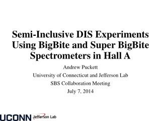 Semi-Inclusive DIS Experiments Using  BigBite  and Super  BigBite  Spectrometers in Hall A
