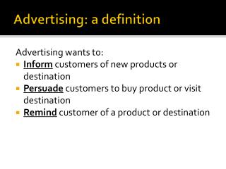 Advertising: a definition