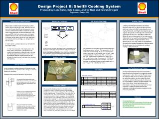 Design Project II: Shell® Cooking System