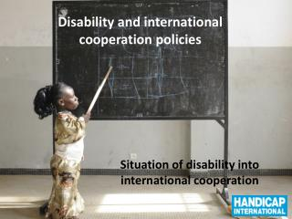 Disability and international  cooperation policies