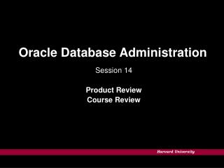 Oracle Database Administration