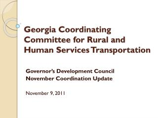 Georgia Coordinating Committee for Rural and Human Services Transportation