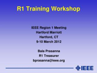 R1  Training Workshop