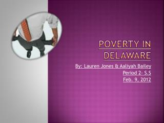 Poverty in Delaware
