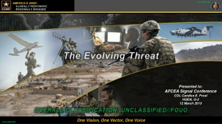 The Evolving Threat