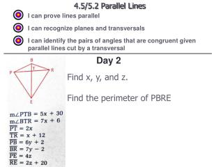 4.5/5.2 Parallel Lines
