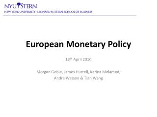 European Monetary Policy