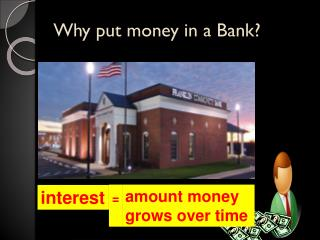 Why put money in a Bank?