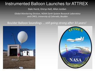 Instrumented Balloon Launches for ATTREX