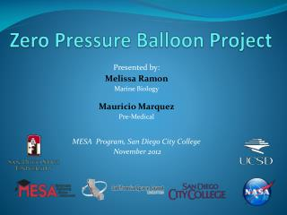 Zero Pressure Balloon Project