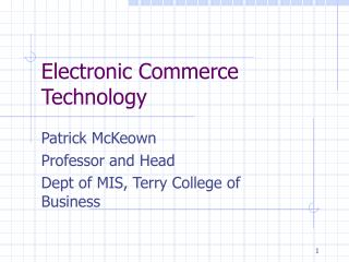 Electronic Commerce Technology