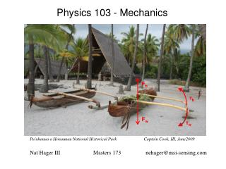 Physics 103 - Mechanics