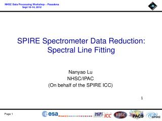 SPIRE Spectrometer Data Reduction: Spectral Line  Fitting