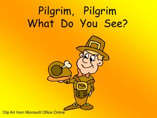 Pilgrim,   Pilgrim What  Do  You  See?