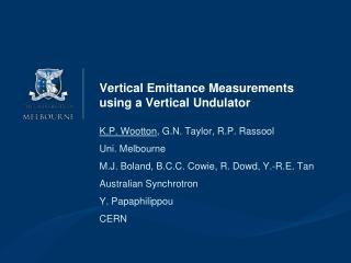 Vertical  Emittance  Measurements using a Vertical  Undulator