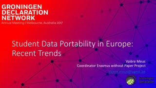 Student Data Portability in Europe: Recent Trends