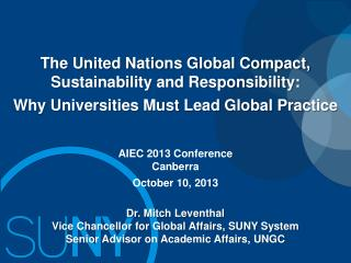 The United Nations Global Compact, Sustainability and Responsibility: