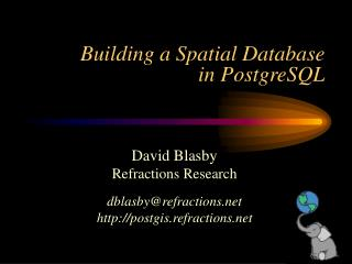 Building a Spatial Database in PostgreSQL